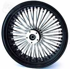 "48 Fat King Spoke Rear 16"" X 5.5"" Wheel 200 Black Rim Hub Harley Chopper Custom"