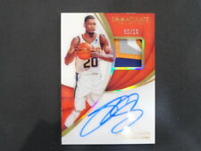 2019 NBA PANINI IMMACULATE PATCH AUTO JOSH JACKSON 05/10