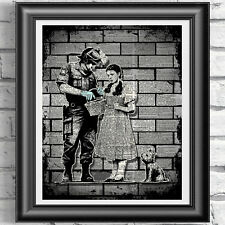The Wizard of Oz Banksy Dorothy Police Search Dictionary Art Wall Decor