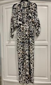 Leopard Print Maxi Dress Size 10