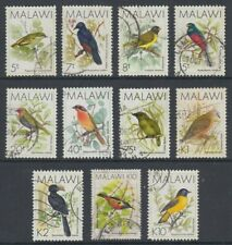 MALAWI 1988 BIRDS PART USED SET (x11) (ID:763/D59566)