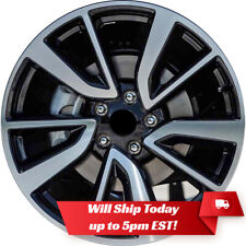 """New Set of 4 19"""" Machine Black Alloy Wheels Rims for 2008-2020 Nissan Rogue"""