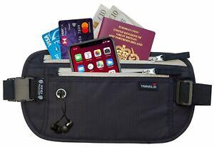 Travel Money Waist Passport Belt Rfid Blocking Holder Wallet Hidden Stash Pouch