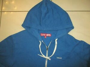 VANS OFF THE WALL MENS REALLY NICE BLUE COTTON POLY HOODIE LARGE  VGC