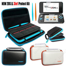 Ture 100% Guarantee nintend New 2ds Ll Accessories Nintend 2ds Ll Case Storage Bag High Quality Impact Resistant Clear Cover 2 Ds Ll Film