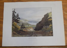 1821 Print, Aquatint Tour of English Lakes///WINDERMERE, FROM ABOVE TROUT-BECK
