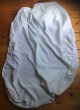 Fitted Light Blue Cot Sheet, Elasticated, Cotton Mix
