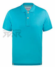 Mens Classic Polo Shirt 100% Cotton Short Sleeve Plain Pique Collared Tee Top