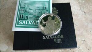 Brazil 2015 Salvador Silver coin 5 Reais Commemorative Unc With Box and Coa