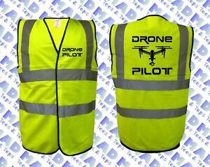 DRONE PILOT- SAFETY HI / HIGH VIZ VEST / WAIST COAT - Medium to 4XL