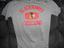 New NHL Chicago Blackhawks Youth Medium Team Apparel T-Shirt Hockey Gray