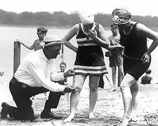 1920's Women fined by Bathing Suit Police for Bathing Suits Being too Short
