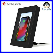 TWELVE SOUTH PowerPic - Wireless QI phone charger and picture/photo frame, Black