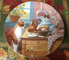 """""""Table Manners� Country Kittens Plate Collection by Gerardi #2805C Art Painted"""