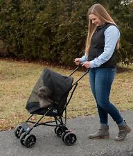 """Pet Gear Ultra Lite Travel Stroller Compact Large Wheels Lightweight 38"""" Tall"""