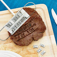 BBQ Branding Iron Changeable 55 Letters Barbecue Grill Tool Set for Meat Steak