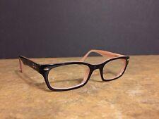 8b3bdd0e540 Ray Ban RB 5150 Black   Pink Eyeglasses Frame 50–19-135 Petite Nice