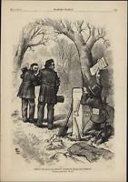 Senator Charles Sumner Grave Liberal Scandal 1874 Harper's Weekly Nast Cartoon