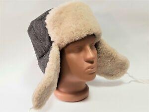 Winter Hat Ushanka Natural Sheepskin