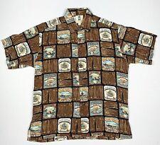 Kahala Men's SZ Medium Hawaiian Shirt Cuban Cigars