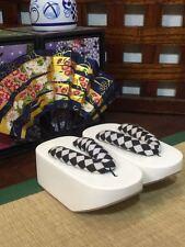 [PF] Black&White Wood Kimono Timber geta Shoes Sandals 1/4 MSD DOD AOD BJD Doll