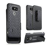 Black Slim Shell Holster Belt Clip Combo Box Case Cover Stand Phone Accessories