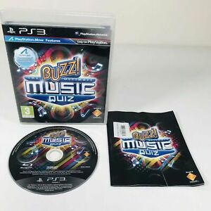 Mint Disc Playstation 3 Ps3 Buzz The Ultimate Music Quiz Free Postage