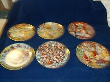 6 Franklin Mint Cat Plates, in very good condition