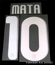 Valencia Mata 10 2010-11 Football Shirt Name/Number Set Away Player