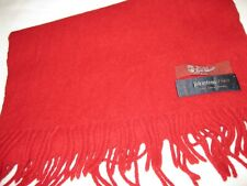 Xtra Large, Vintage Johnston's of Elgin, Red Scarf. 100% Lambswool.