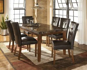 Marble Rectangular Dining Furniture Sets For Sale In Stock Ebay