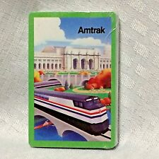 Amtrak Cool Art Railroad Playing Cards Train Ads Set Philadelphia 30th St VTG