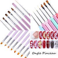 Pinceau à Ongles Brosse Ongle Liner Stylo Peinture Dessin  Nail Art Pen