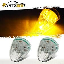 2xTorpedo Top Clearance Lights Clear/Amber 17 LED Replacement Lens for Peterbilt