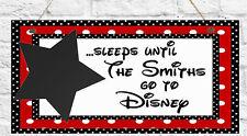 Personalised Disney Countdown Plaque Disneyland Chalk Christmas Gift Present