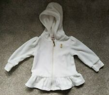Juicy Couture White Velour Tracksuit Top 3-6 Months