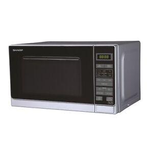 Sharp R272SLM 20L Digital Microwave Oven - Silver