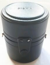 "Vintage Hard Lens Case 4"" For Tamron Sigma Yashica Tokina Zoom Telephoto Lenses"