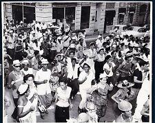 large vintage photo street carnival Santiago de Cuba carnaval Karneval foto 1960
