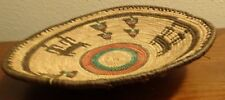 Vintage Antique Woven indian basket Hand Crafted