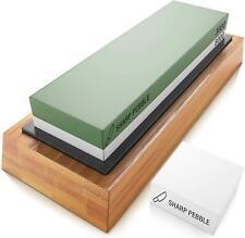 New listing Sharp Pebble Premium Sharpening Stones 2 Side Grit 3000/8000 Whetstone Knife Kit