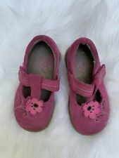 Match'n Go Toddler Shoes Size 7 M pink Leather suede Munchkin Flower 🌺