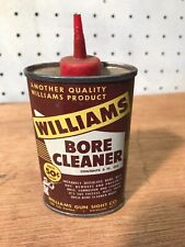 Nice Vintage Williams Company Bore Cleaner/ Oil Can-1/2 Full