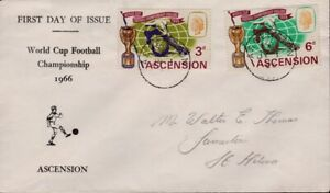 ASCENSION 1966 World Cup FDC addressed in pencil @D9396