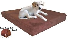 47''x29''x4'' Microsuede Brown Memory Foam Orthopedic Waterproof Dog Pad Bed XL