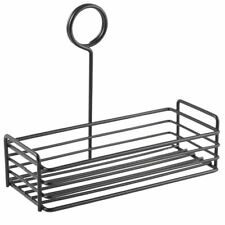 Black Rectangle Wire Condiment Holder Table Caddy Tidy Pub