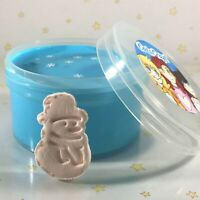 "DIY Clay Butter Slime ""FROSTY"" Snowman BLUE Thick Glossy Scented Choice 6 8 oz"