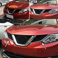 For Nissan Rogue Sport 2017 - Chrome Front Mesh Grille Cover Trim Insert Molding