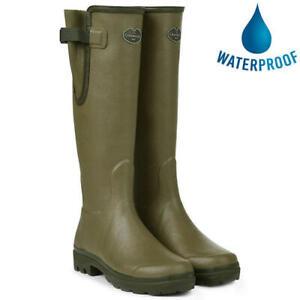 Le Chameau Womens Ladies Vert Green Vierzon Jersey Wellies Wellington Boots Size