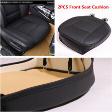 2Pcs Deluxe PU Leather Car Front Seat Cover Protector Cushion Black Universal